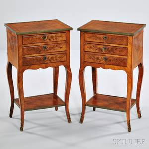 Pair of Louis XVstyle Chiffonier Tables