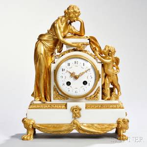Marble and Giltbronze Mantel Clock