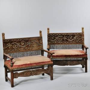 Pair of Italian Upholstered Benches