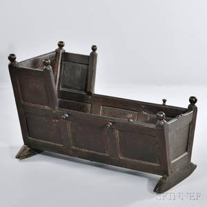 Paneled Walnut Cradle