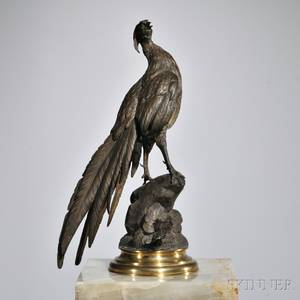 After Ferdinand Pautrot French 18321874 Bronze Pheasant