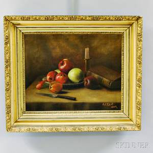Continental School 19th Century Still Life with Apples