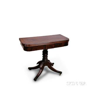 Classical Mahogany and Mahogany Veneer Card Table