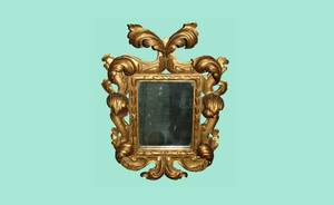 152 Italian 19th Century Baroque Pierced Wall Mirror