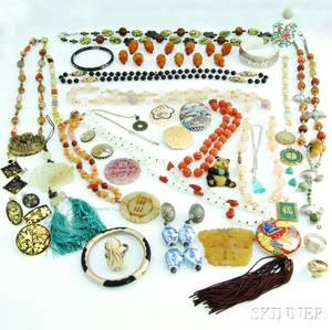 Group of Asianstyle Jewelry and Accessories