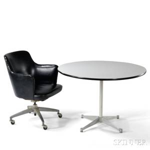 Charles and Ray Eames Table and an Office Chair