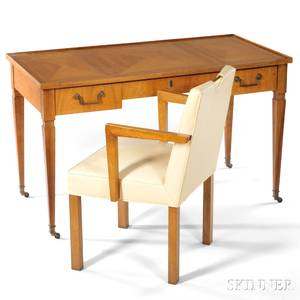 Edward Wormley for Dunbar Armchair and a Baker Desk