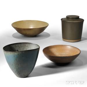 Four Art Pottery Items