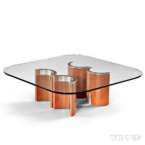 Saporiti Italia Glass Coffee Table