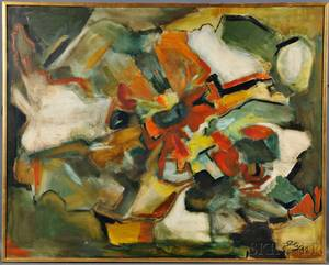 German School 20th Century Untitled Abstract