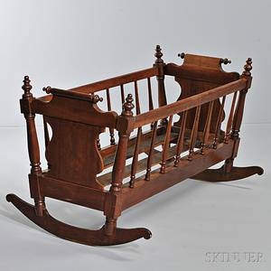 Turned Walnut Cradle