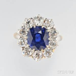 Fine Antique Sapphire and Diamond Ring Howard amp Co