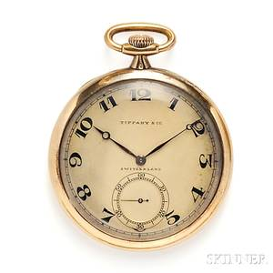 18kt Gold Open Face Pocket Watch Tiffany amp Co