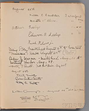 Cummings Edward Estlin 18941962 Signed Unpublished Manuscript Poem within a Ships Guest Book 24 August 1916