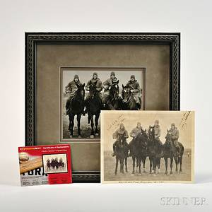 Signed Photograph of Notre Dames Four Horsemen of 1924
