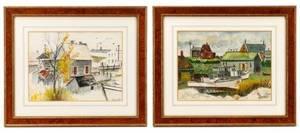 Group of 2 Keenan Shute Coastal Watercolors