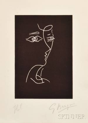 Georges Braque French 18821963 Untitled Profile