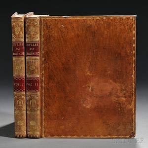 Theocritus fl circa 270 BC Idylles de Theocrite Traduites en Francais par JB Gail bound with Les Amours de Leandre et de Hero