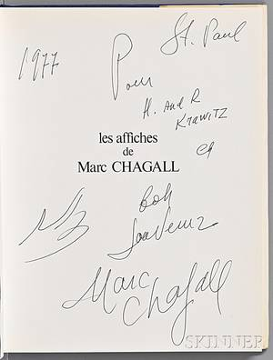 Sorlier Charles 19211990 Les Affiches de Chagall Signed and Inscribed by Chagall