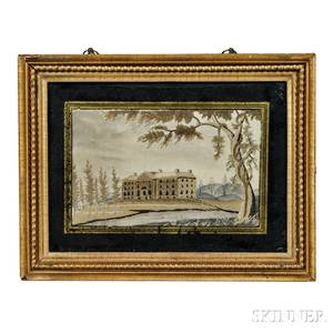 Small Needlework Picture of a Mansion
