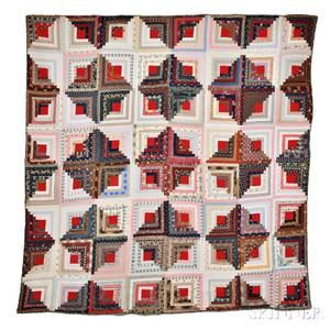 Calico Log Cabin Quilt