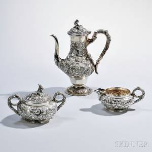 Assembled Threepiece S Kirk amp Son Silver Coffee Service