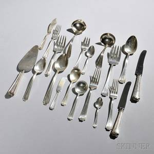 Assembled American Sterling Silver Flatware Service