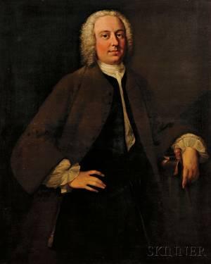 School of Thomas Hudson British 17011779 Portrait of a Gentleman thought to be John Porter c 17321793