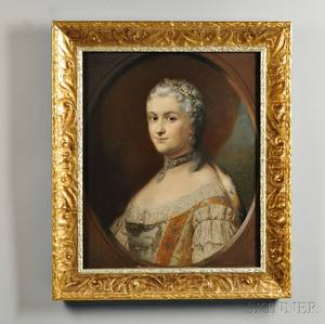James Wells Champney American 18431903 Portrait of Marie Leszczynska After Carle van Loo French 17051765