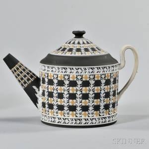 Wedgwood Tricolor Jasper Dip Diceware Teapot and Cover
