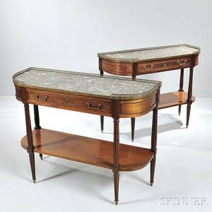 Pair of Louis XVI Marbletop Console Tables