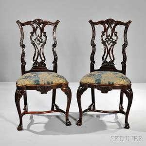 Pair of AngloPortugeuse Chippendalestyle Chairs
