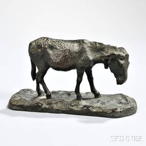 Continental School 19th Century Bronze Mule