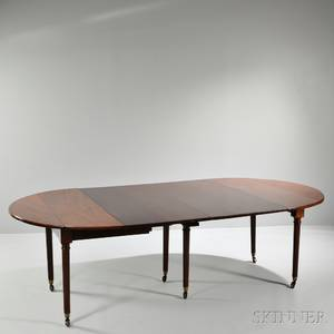 Louis XVI Mahogany Extension Dining Table
