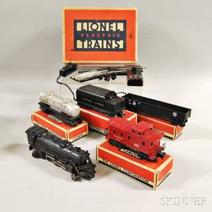 Lionel Train Freight Set 1463W and a 022 Ogauge Switch