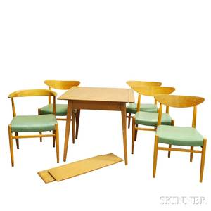 Imperial Midcentury Modern Teak Dining Table and Five Chairs
