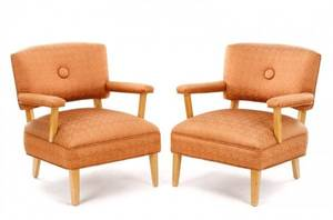 Pair of MCM Open Armchairs Billy Haines Attr