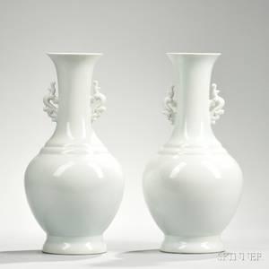 Pair of Blanc de Chine Vases