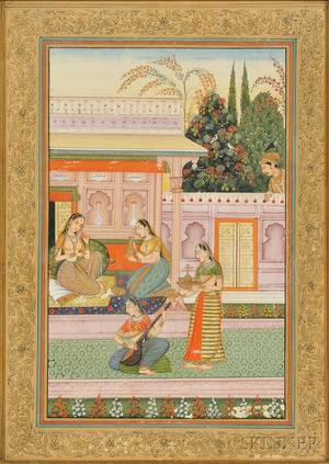 Miniature Painting of a Court Scene