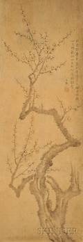 Hanging Scroll Mukmaedo Depicting a Plum