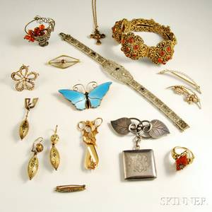 Group of Sterling Silver and Gold Jewelry