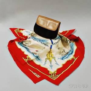 Hermes Silk Scarf and Gucci Evening Bag