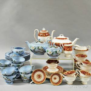 Wedgwood Tea Service and Royal Albert Florentinepattern Tea Service