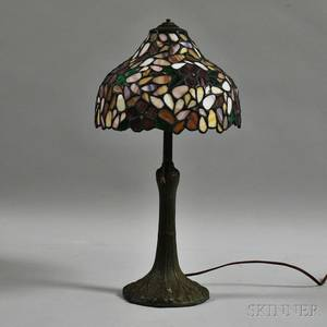 Decorative Table Lamp with Mosaic Glass Shade