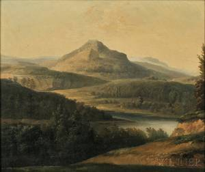 JeanJosephXavier Bidauld French 17581846 Landscape with River and Mountain