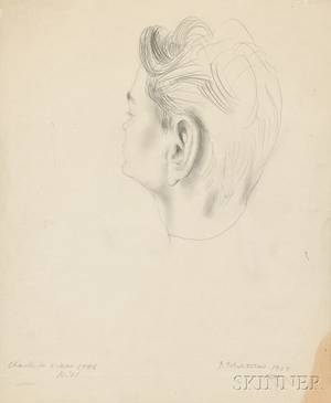 Pavel Tchelitchew RussianAmerican 18981957 Study for a Portrait of Charles Henri Ford