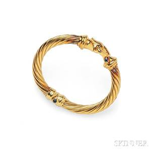 18kt Gold and Sapphire Bracelet David Yurman
