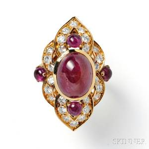 18kt Gold Ruby and Diamond Ring Van Cleef  Arpels