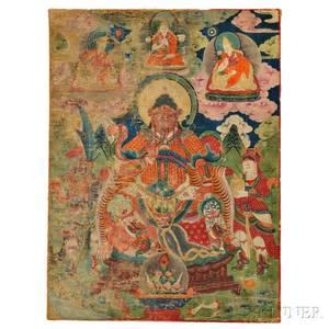 Thangka Depicting Guan Yu