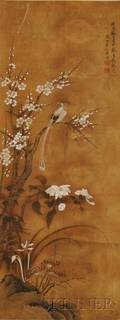 Hanging Scroll Depicting Flowers